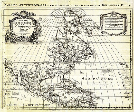 1708 De L'Isle Map of North America Covens and Mortier ed by MotionAge Media