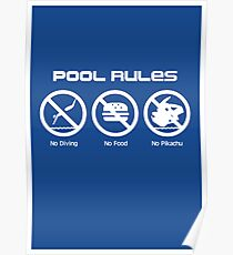 Pool Rules (Print Version) Poster