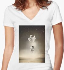 The Spaceman Women's Fitted V-Neck T-Shirt