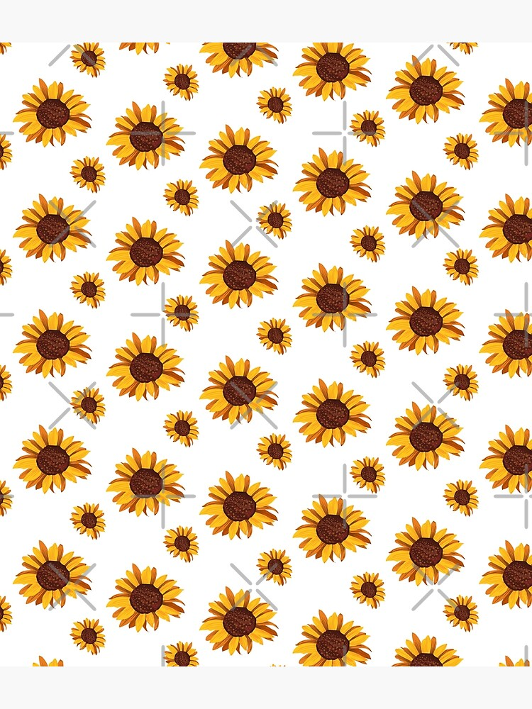 CUTE SEAMLESS SUNFLOWER PATTERN  by iBruster