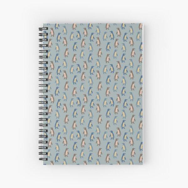Penguins in teal Spiral Notebook
