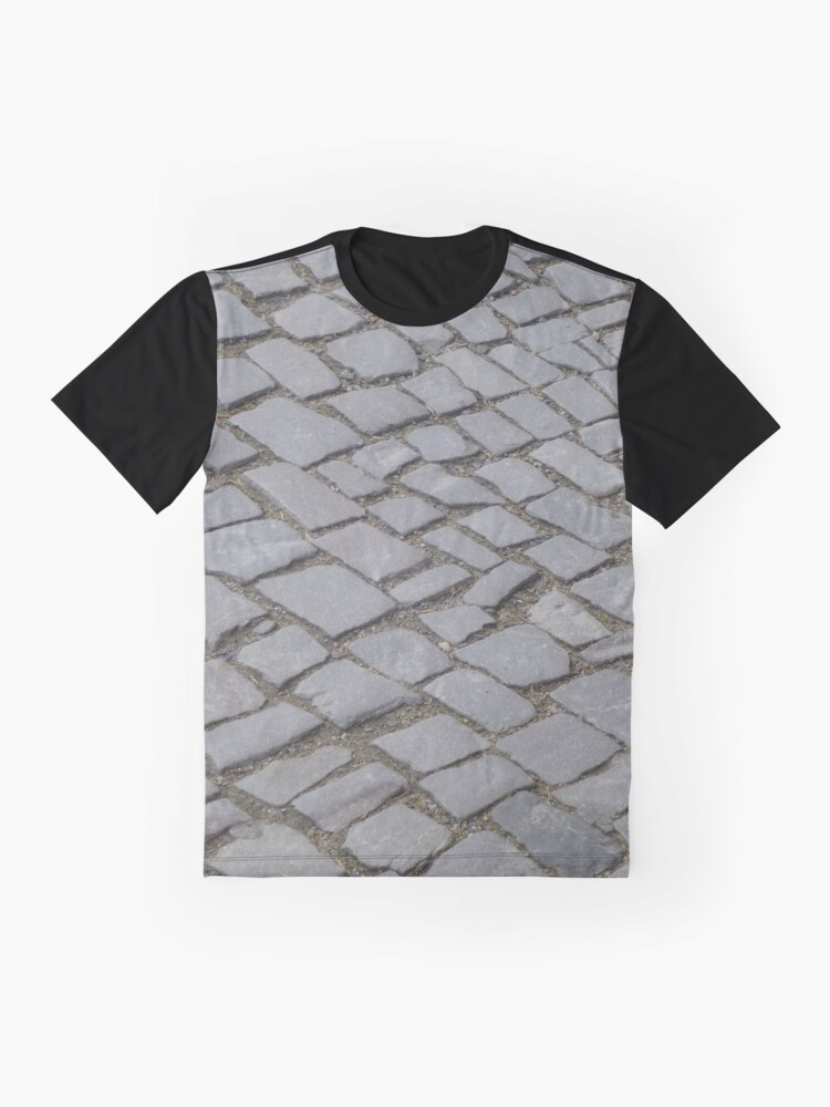 Alternate view of Berlin Gray Square Old Cobble Stone Street Graphic T-Shirt