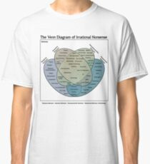 The Venn Diagram of Irrational Nonsense (White T) Classic T-Shirt