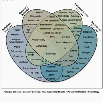 The Venn Diagram of Irrational Nonsense (White T) by CrispianJago