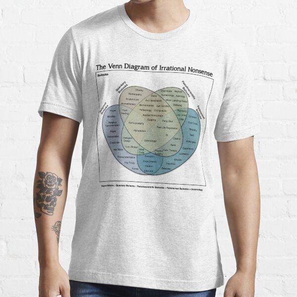 The Venn Diagram of Irrational Nonsense (White T) Essential T-Shirt