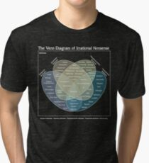 The Venn Diagram of Irrational Nonsense (Dark) Tri-blend T-Shirt