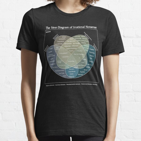 The Venn Diagram of Irrational Nonsense (Dark) Essential T-Shirt