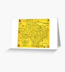 A Literary map of Texas by Dallas Pub Lib (1955) Greeting Card
