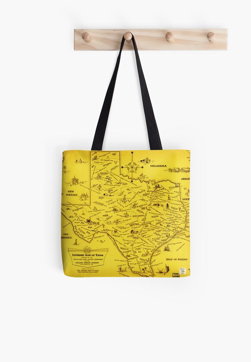 A Literary map of Texas by Dallas Pub Lib (1955) by MotionAge Media
