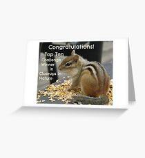 Top Ten challenge winner banner Greeting Card