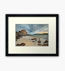 Seascape in Mani, Greece Framed Print