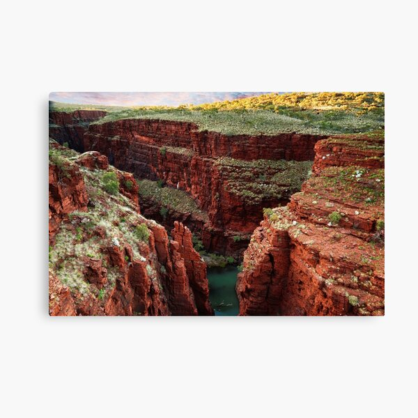 The junction of Weano and Hancock gorge Canvas Print
