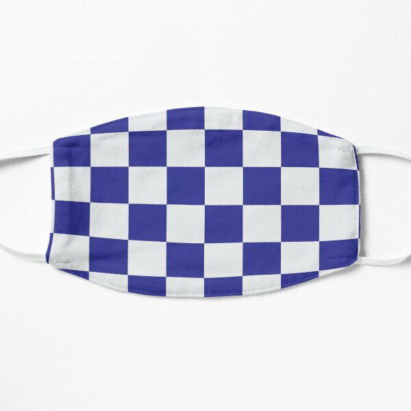 Chelsea Blue and White Checkered Fan Flag Mask