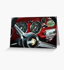 Porsche 356 Steering Wheel Greeting Card