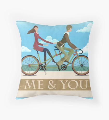 Me & You Bike Throw Pillow