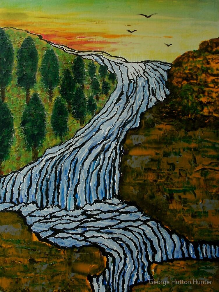 The Icebound Waterfall by George Hunter