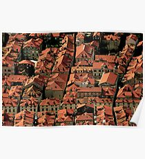 The Red Rooftops of Dubrovnik, Croatia Poster