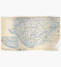 Bicycle Map of Wisconsin (1897) Poster