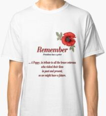 Remember Veterans Poppy Classic T-Shirt