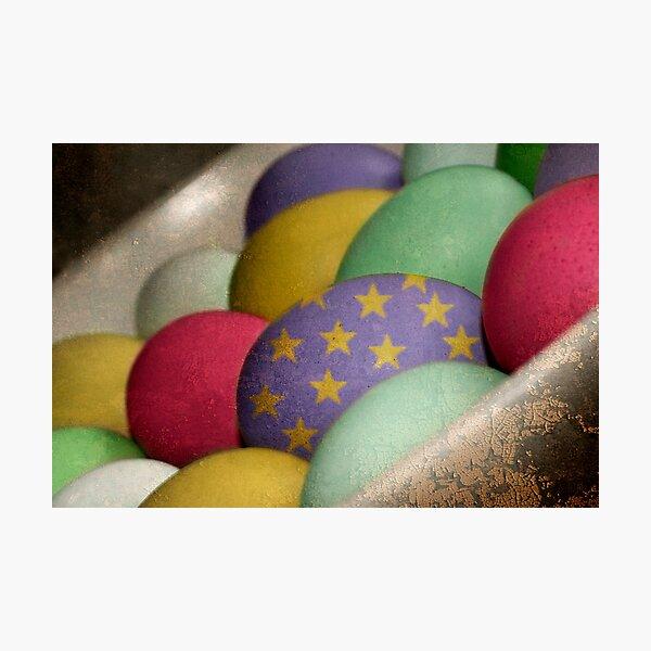 Arty Eggs Photographic Print