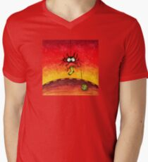 Knitting Spider Mens V-Neck T-Shirt