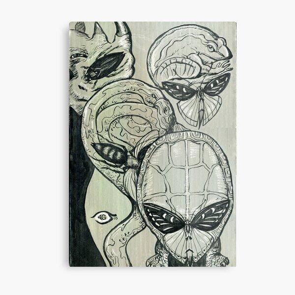 Shades of Grays: Three Metal Print
