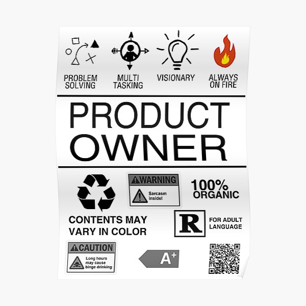 Product Owner Poster
