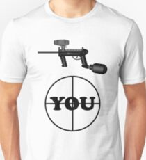 Paintball. Gun Sight on You. BL. Unisex T-Shirt