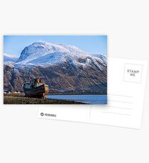 Ben Nevis and Old Fishing Boat Postcards