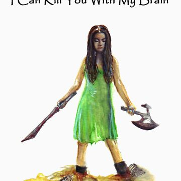 River Tam I Can Kill You With My Brain T-shirt by gothscifigirl