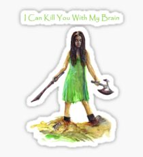 River Tam I Can Kill You With My Brain Dark Color T-shirts Version Sticker