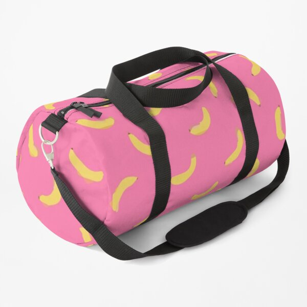 Minimal small ripe banana in the pattern seamless of pink Duffle Bag