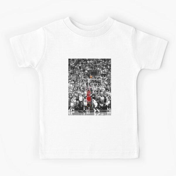 Best Quality Michael Jordan Shot Over Russell Kids T-Shirt