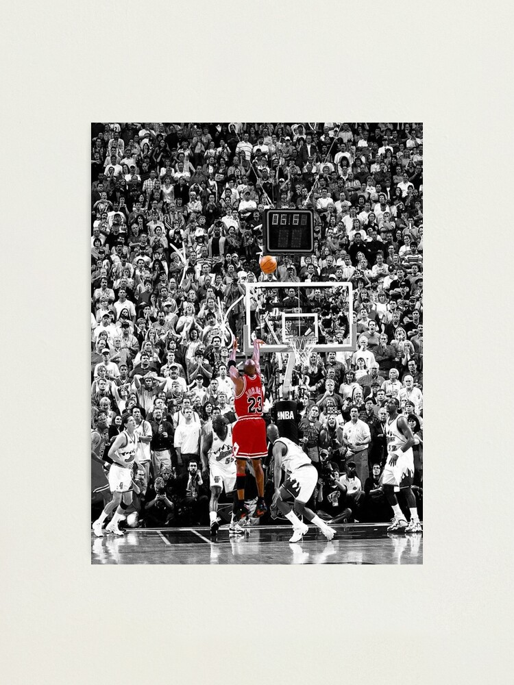 Alternate view of Best Quality Michael Jordan Shot Over Russell Photographic Print
