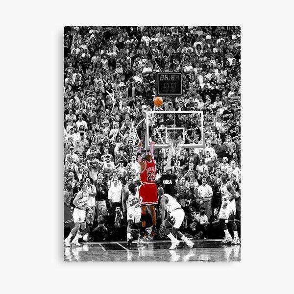 Meilleure qualité Michael Jordan Shot Over Russell Impression sur toile