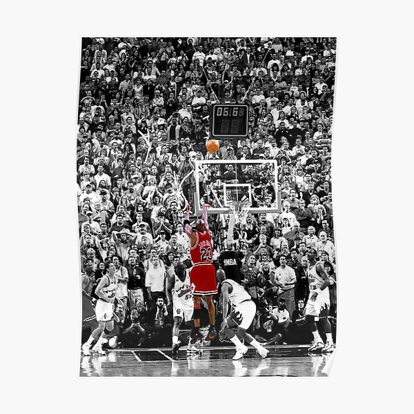 Best Quality Michael Jordan Shot Over Russell Poster