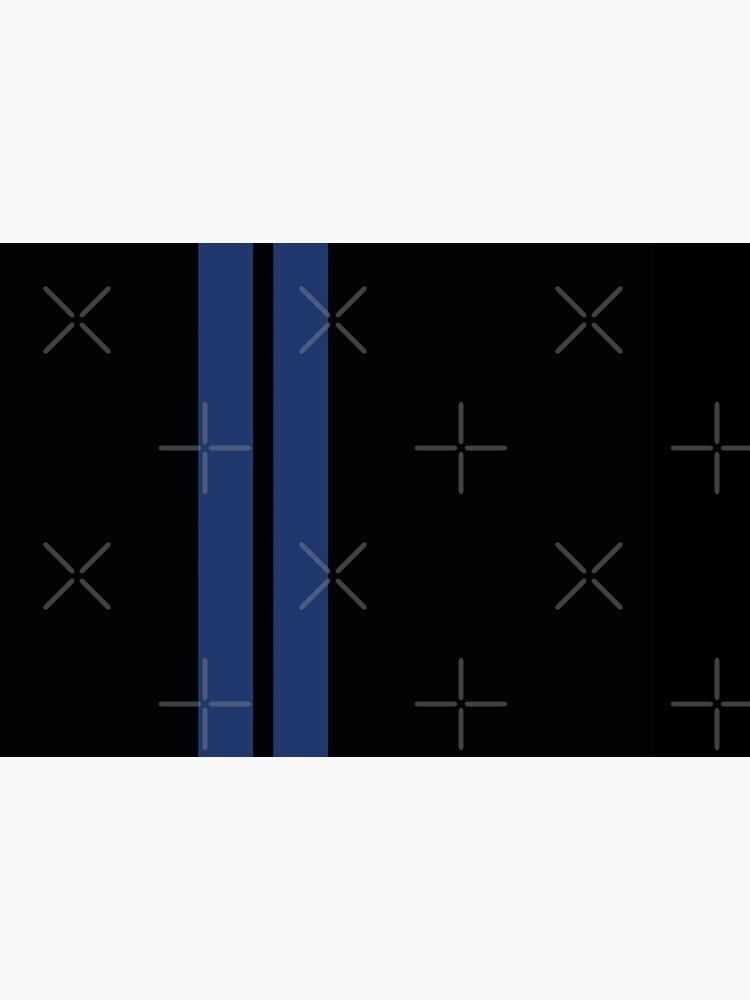«Rayures de course (bleu et noir)» par Steve-R