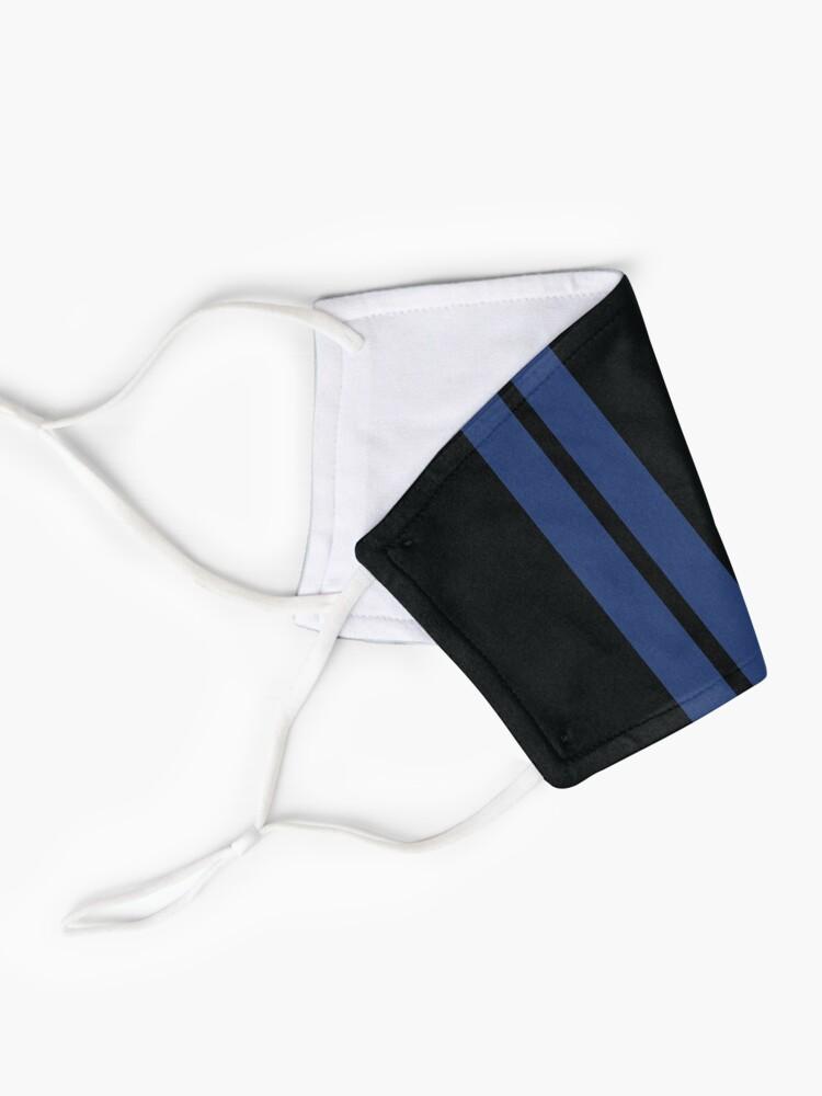 Masque ''Rayures de course (bleu et noir)': autre vue