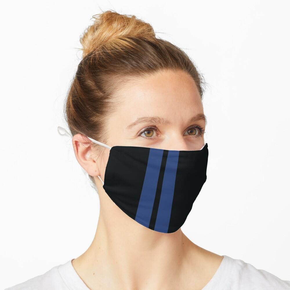 Masque «Rayures de course (bleu et noir)»