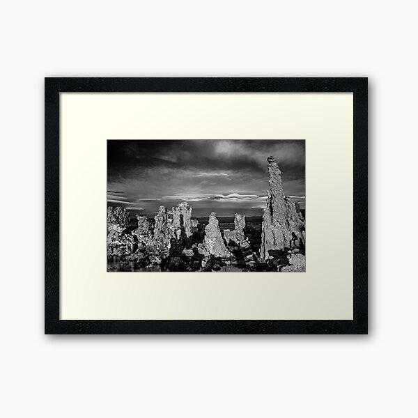 Mono Lake South Shore Tuffas  Framed Art Print