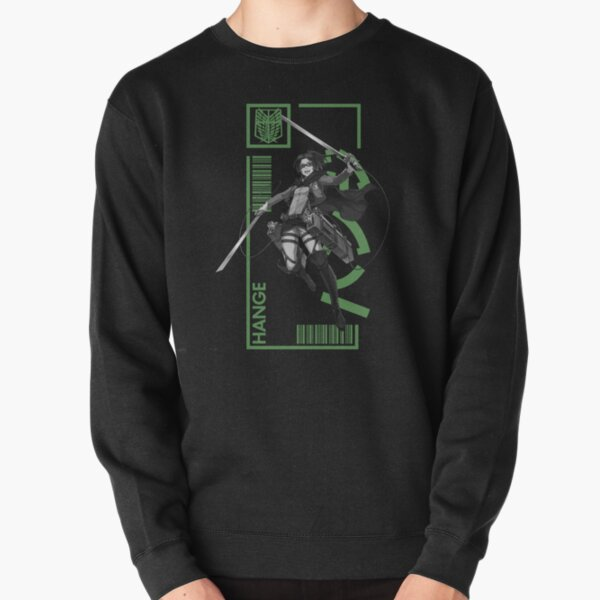 Hange Zoe - Attack On Titan - Typography 3 Pullover Sweatshirt