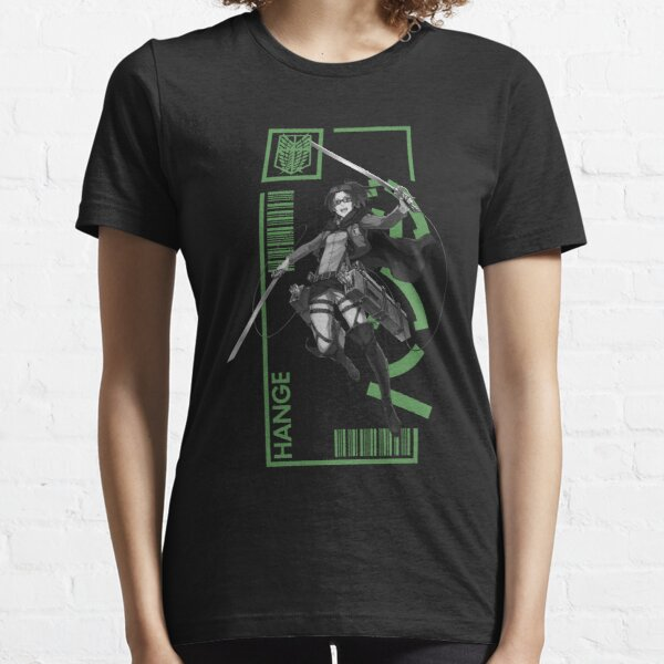 Hange Zoe - Attack On Titan - Typography 3 Essential T-Shirt