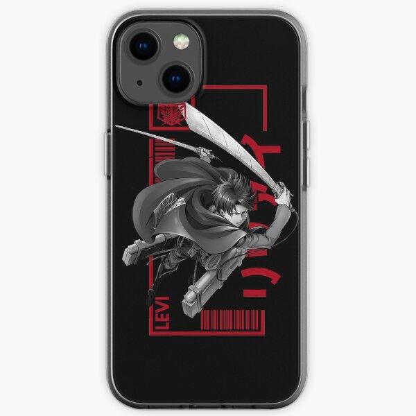 Levi Ackerman - Angriff auf Titan - Typografie 3 iPhone Flexible Hülle