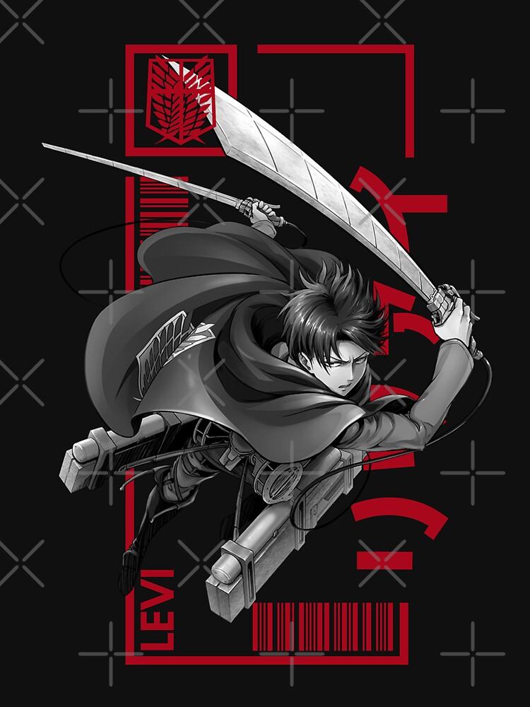 Levi Ackerman - Attack On Titan - Typography 3 by Chumbo21