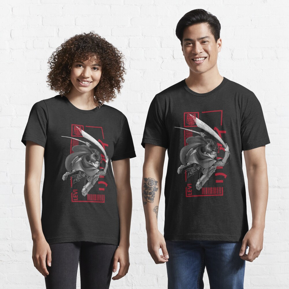 Levi Ackerman - Attack On Titan - Typography 3 Essential T-Shirt