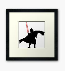 Darth Vader shadow style Framed Print