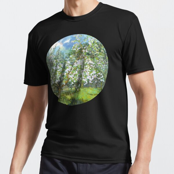 Blossoming garden paintingwatercolor Active T-Shirt