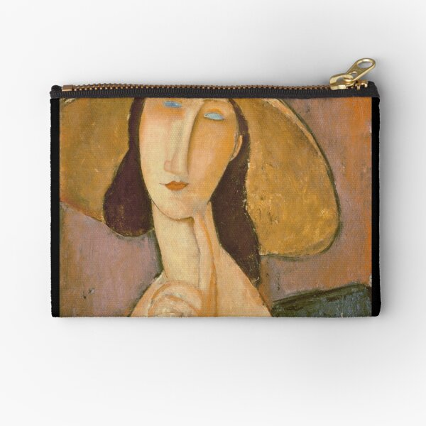 Amedeo Modigliani - Head Of A Woman Zipper Pouch
