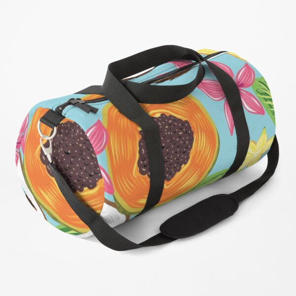 Tropical coconut and papaya fruit pattern Duffle Bag