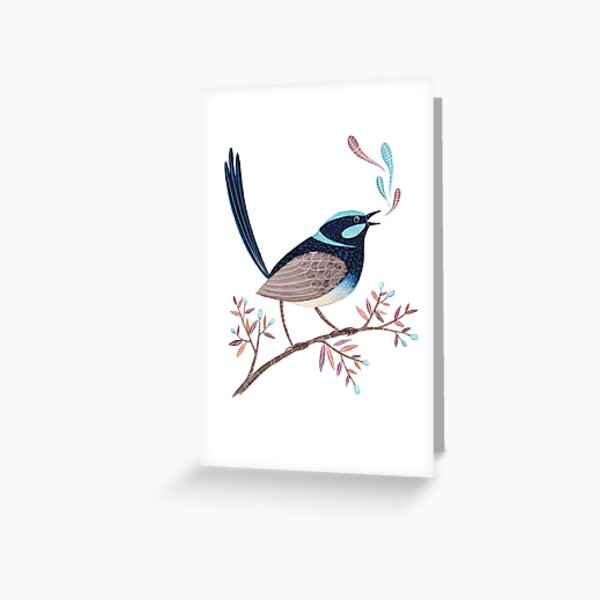 Superb Wren Greeting Card